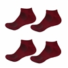 Rayon from Bamboo Maroon Ankle Socks