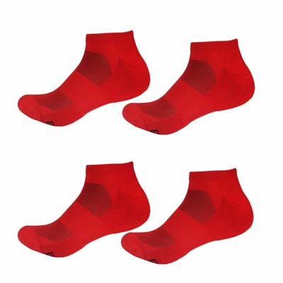 Rayon from Bamboo Cherry Red Ankle Socks