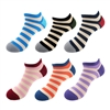 Women's Striped Bamboo Ankle Socks