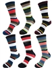 Men's Rayon from Bamboo Fiber Stripe Socks - 6/18/60 Pair Value Pack