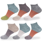 mens colored bamboo ankle socks