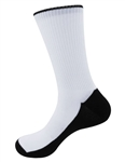 Blank Black Sole Sublimation Socks for Printing