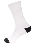 black toe and heel sublimation socks for printing