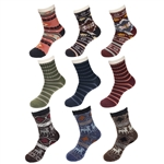 Men's stylish comfy double layer cabin crew socks