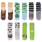 Women's Fuzzy Cozy Animal Crew Socks