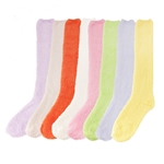 bright soft colorful plush socks