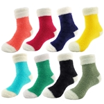 Women's Colorful Fuzzy Featherlight Cuff Socks
