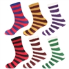 striped team spirt colored socks