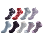 womens feather yarn ankle socks