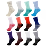 Bulk packs of Fuzzy Colorful Sock Assortments