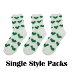 Women's Soft Warm Microfiber Fuzzy Non-Skid Socks - 3 Pairs