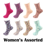 Super Soft Warm Microfiber Fuzzy Cozy Knobby Socks - Assorted Colors - 12 Pair