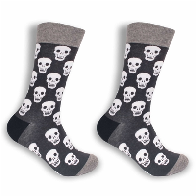 skull design patterned dress socks