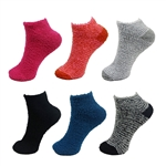 Assorted Super Soft Warm Microfiber Fuzzy Socks - Lowcuts