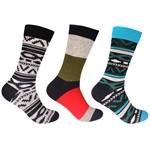 Men's Assorted Cotton Novelty Dress Socks - 3 Pair