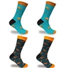 Men's Colorful Cotton Novelty Dress Socks - 4 Pair