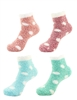 Women's Fuzzy Polka Dot Cuff Socks - 4/12/40 Pair Value Pack