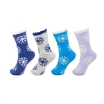Assorted Fluffy Snowflake Socks