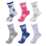 Plush Snowflake Socks