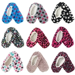 Adult Footies Slippers Non-Slip Lined Socks - Varies Style and Colors