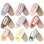 Women's Soft Warm Cozy Fuzzy Furry Non-Slip Lined Slippers