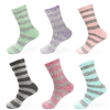 Colorful Striped Fuzzy Womens Socks