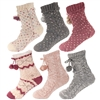 fluffy fuzzy thick soft cabin thermal fleeced line crew socks