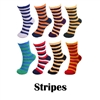 Super Soft Warm Fuzzy Microfiber Team Spirit Socks - Stripes - 4 Pairs