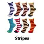 Super Soft Warm Fuzzy Microfiber Team Spirit Socks - Stripes