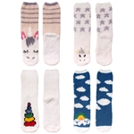 Women's Fuzzy Cozy Unicorn Series Crew Socks