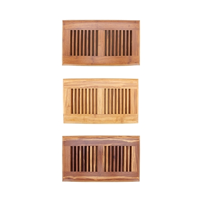 "Strand Woven Bamboo Floor Register Air Vent Indent Cover - 6"" x 11.8"""