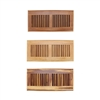 "Strand Woven Bamboo Floor Register Air Vent Indent Cover - 6"" x 14"""