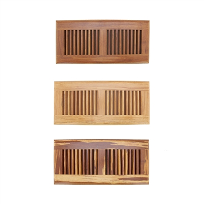Strand woven bamboo floor register vent cover 6 x 14 for 10 x 14 floor register