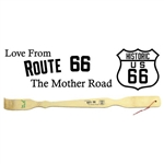 "Route 66 The Mother Road 18.5"" Bamboo Backscratcher"