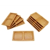 "Small Solid Bamboo Dishes - 4.7"" x 2.4"" - Deep Square"