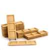 small solid bamboo dishes multi compartment