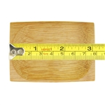 Oval indented small solid bamboo scoop