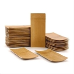 "Small Solid Bamboo Dishes - 5.9"" x 2.6"" Rectangle - Sharp Edge/ Oval"