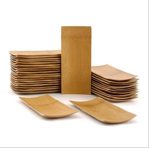 Small Solid Bamboo Dishes - 5.9\  x 2.6\  Rectangle - Sharp ...  sc 1 st  BambooMN & Small Solid Bamboo Dishes - 5.9\