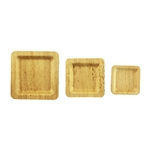 BambooMN Bamboo Leaf Square Plate