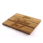 Custom Laser Engraved Raised Bamboo Bathmat - Your Custom Text