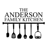 Custom engraved serving spoon kitchen utensils