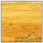 Custom Laser Engraved Bamboo Cutting Board - Family Home