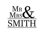 Custom Laser Engraved Bamboo Cutting Board - Simple Mr and Mrs 2