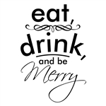 Custom Laser Engraved Bamboo Cutting Board - Eat, Drink & be Merry