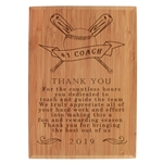 Thank you Coach Engraved Plaque