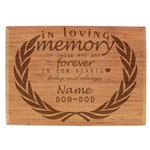 Custom Laser Engraved Memorial Plaque