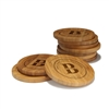 Engraved Bamboo Coaster Set - Round - Family Names Circle - (10 Coasters/Set)