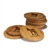 Engraved Bamboo Coaster Set - Round - Democrat - (10 Coasters/Set)