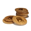 Engraved Bamboo Coaster Set - Round - Republican - (10 Coasters/Set)